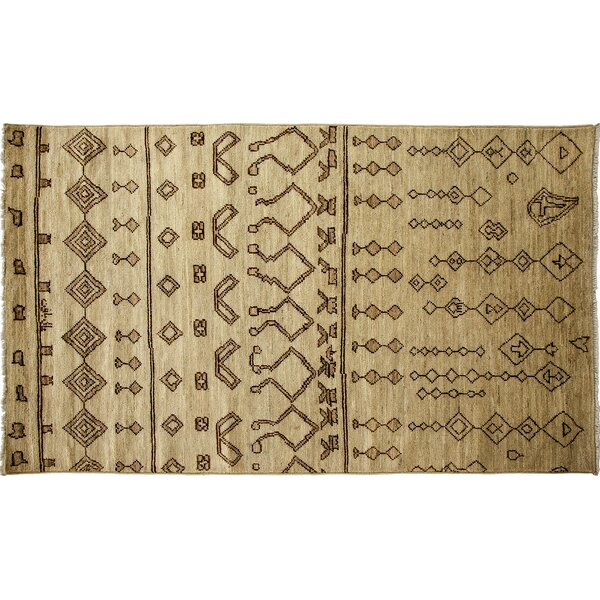 One-of-a-Kind Moroccan Hand-Knotted Beige Area Rug by Darya Rugs