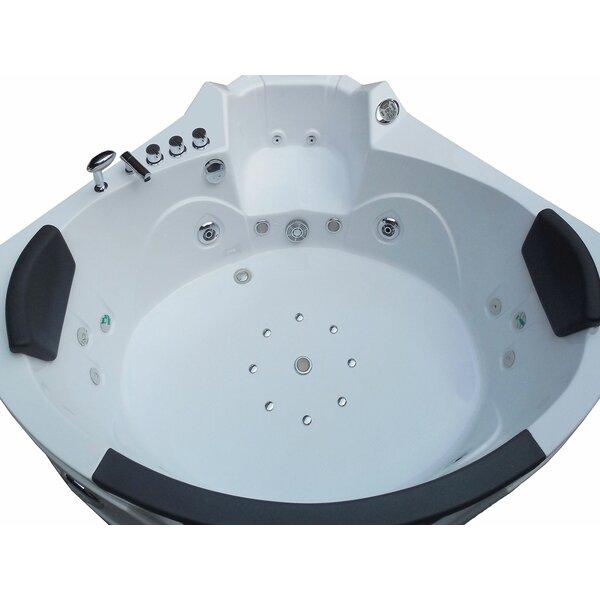 Whirlpool Bathtub Corner Hydrotherapy 59 x 59 by Simba USA Inc