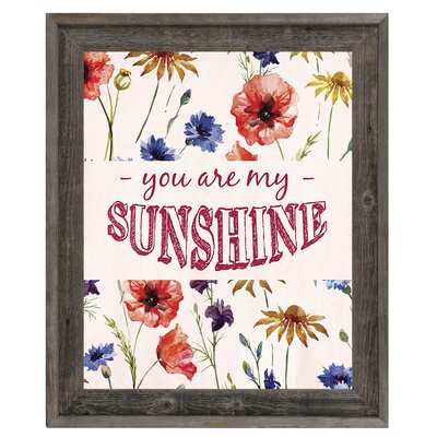 you are my sunshine framed textual art - You Are My Sunshine Frame