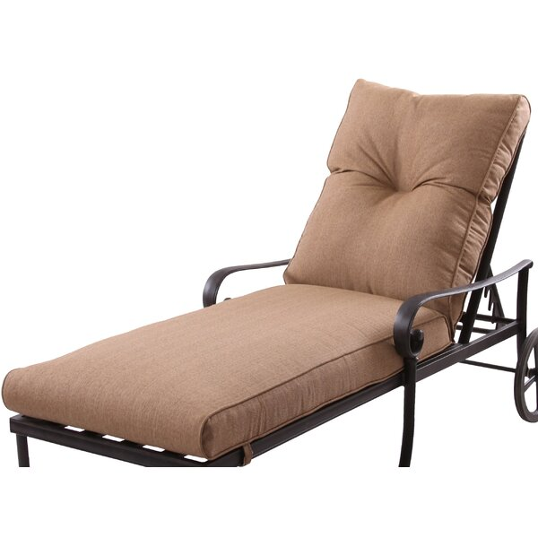 Carlitos Indoor/Outdoor Chaise Lounge Seat and Back Cushion