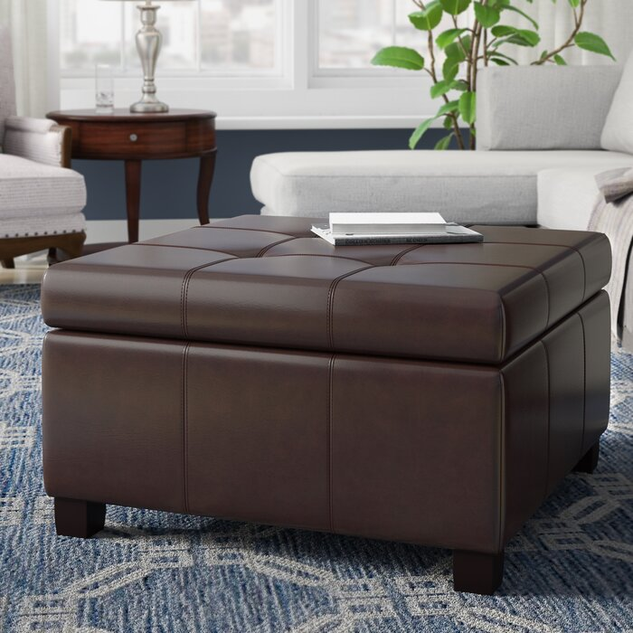 Excellent Quentin Tufted Storage Ottoman Andrewgaddart Wooden Chair Designs For Living Room Andrewgaddartcom