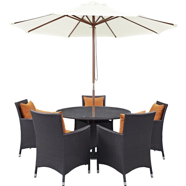 Brentwood 6 Piece Dining Set with Cushions by Sol 72 Outdoor