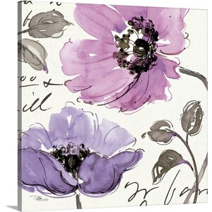 Floral Waltz Plum I Painting Print on Wrapped Canvas by Great Big Canvas