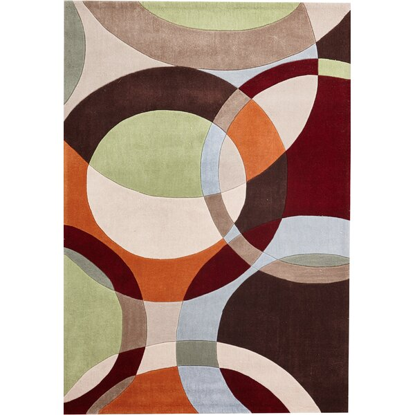 Everette Hand-Tufted Beige/Brown/Red Indoor Area Rug by Red Barrel Studio