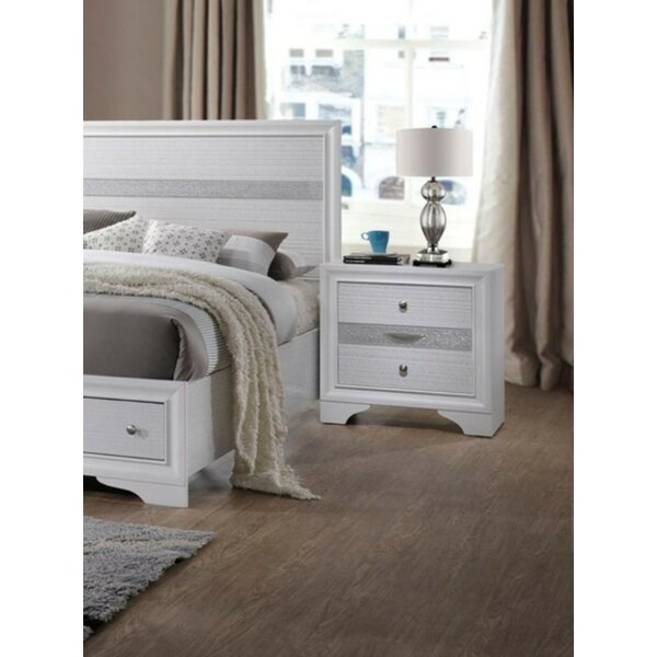 Provencher 3 Drawer Nightstand by Everly Quinn