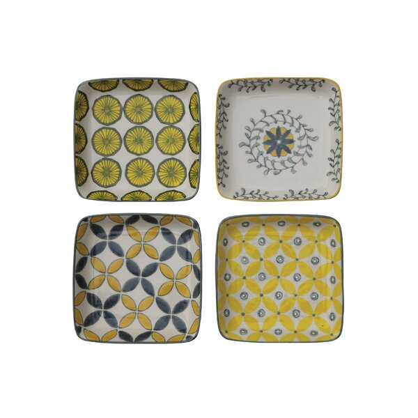 4 Piece Acott 4.8 Bread and Butter Plate Set by Mint Pantry
