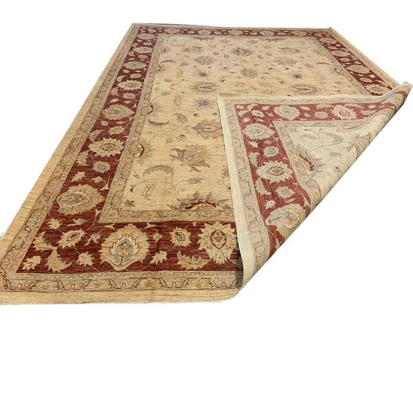 One-of-a-Kind Golding Hand-Knotted Chobi Brown 10'2 x 13'6 Wool Area Rug