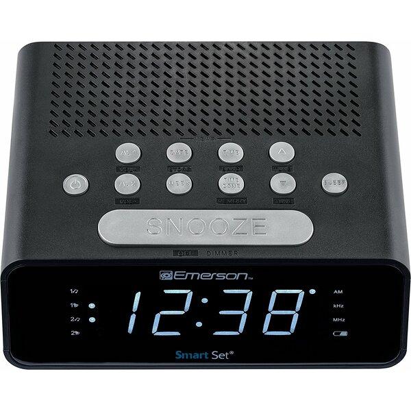 SmartSet Alarm Radio Desktop Clock by Emerson Radio Corp.