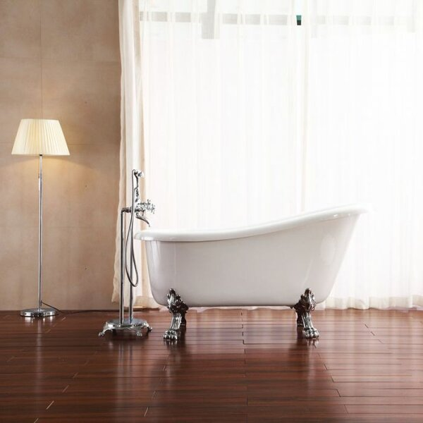 Elise 34 x 59 Freestanding Soaking Bathtub by Azzuri