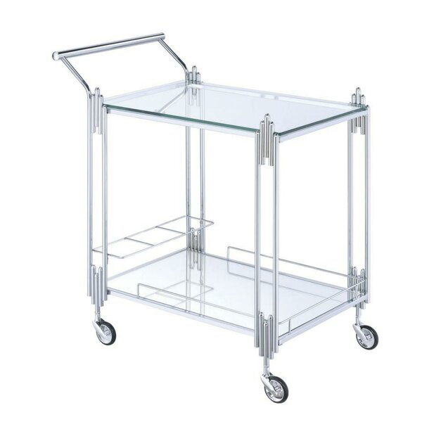 Bott Metal and Mirror Bar Cart by Mercer41 Mercer41