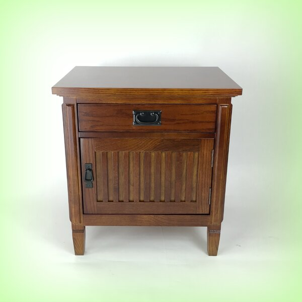 Oecusse 1 Drawer Nightstand by Alcott Hill