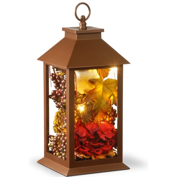 Harvest Arrangement in LED Lamp with Hanging by Th