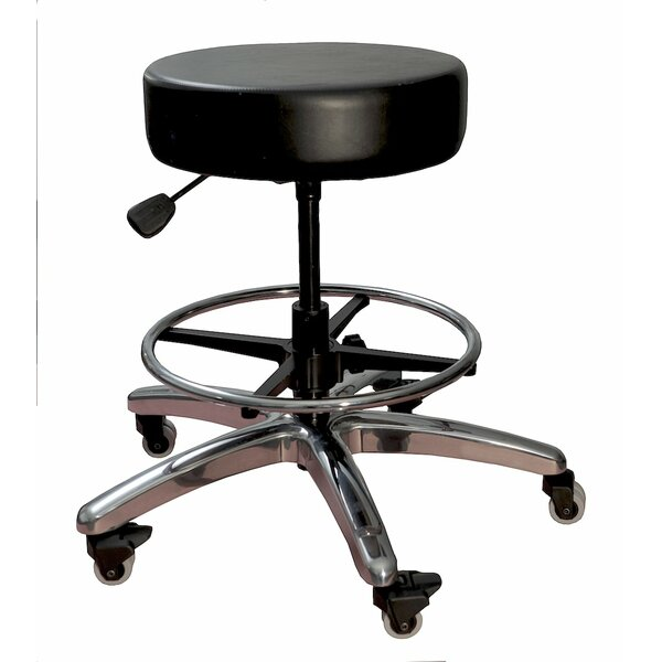Pneumatic Adjustable Height Lab Stool by Symple Stuff