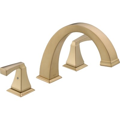Delta Tub Faucet Deck Mount Double Handle Trim Bronze Faucets