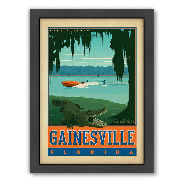 Gainesville Florida Framed Vintage Advertisement by East Urban Home