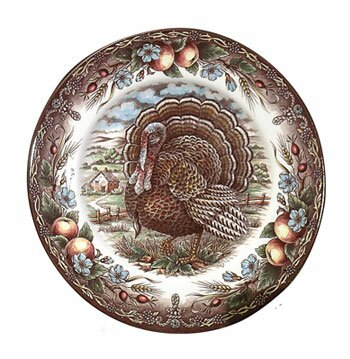 Turkey 7.13 Round Bread and  Butter Plate (Set of 2) by The Holiday Aisle