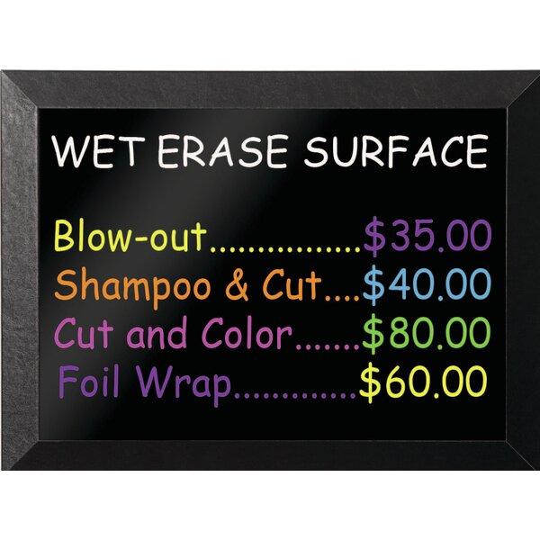 Kamashi Wet-Erase Wall Mounted Chalkboard by Mastervision