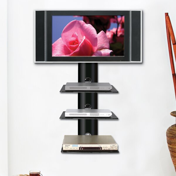 Monte Carlo Triple Wall-Mount Shelf System in Hi-Gloss Black by Ready Set Mount