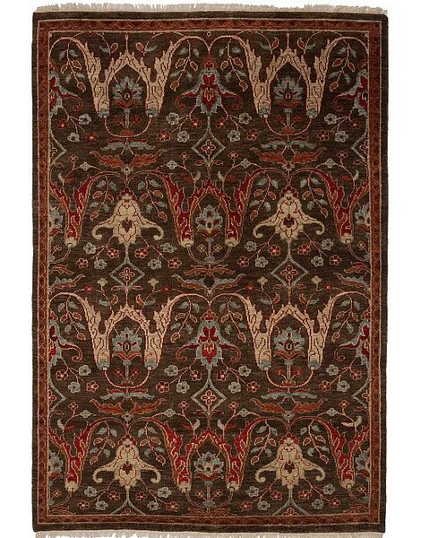 Tucson Hand-Knotted Brown Area Rug by Shalom Brothers