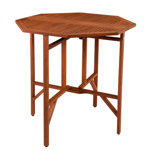 Wellesley Folding Eucalyptus Dining Table by Breakwater Bay