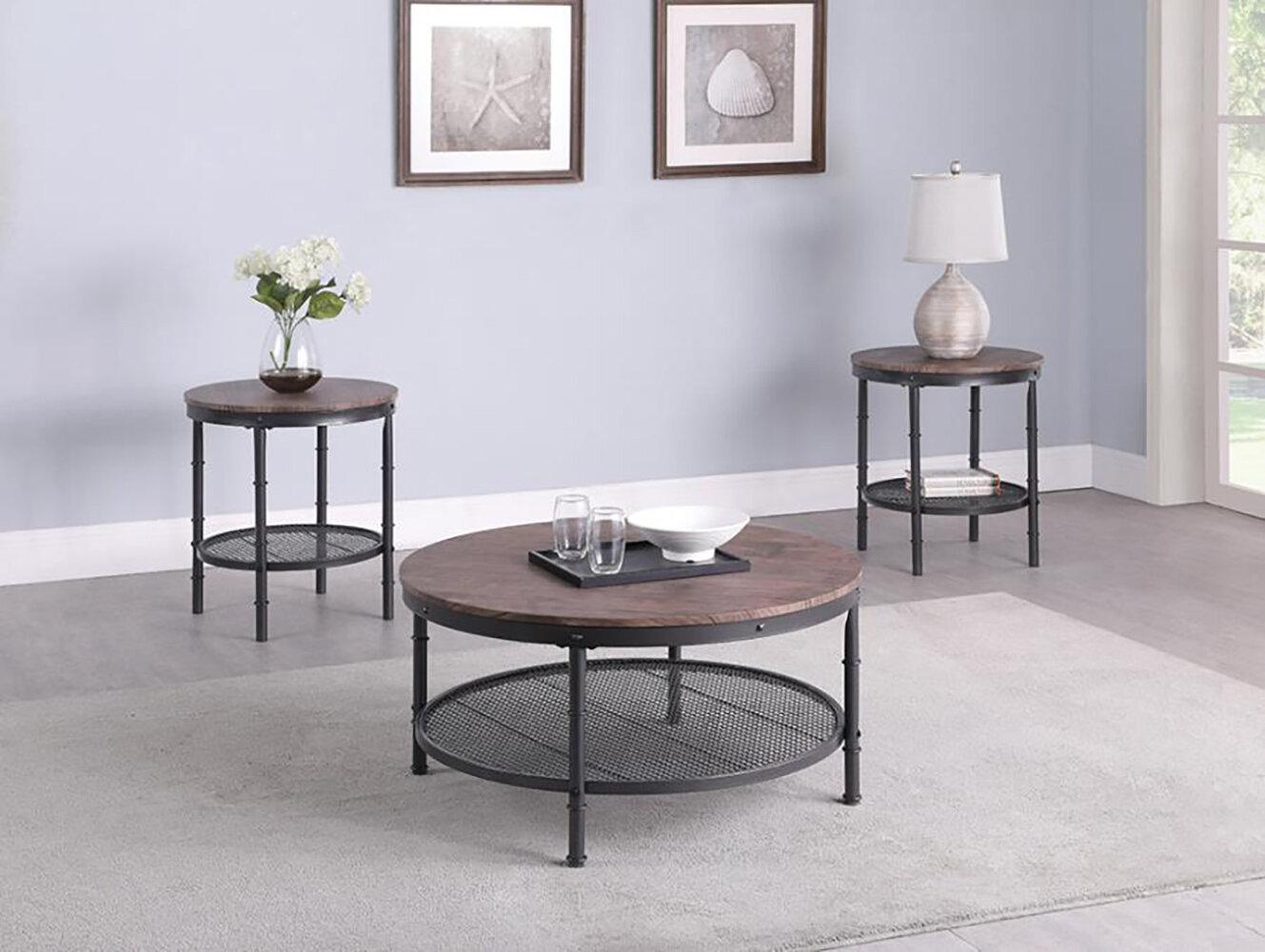 Williston Forge Eaglin 3 Piece Coffee Table Set