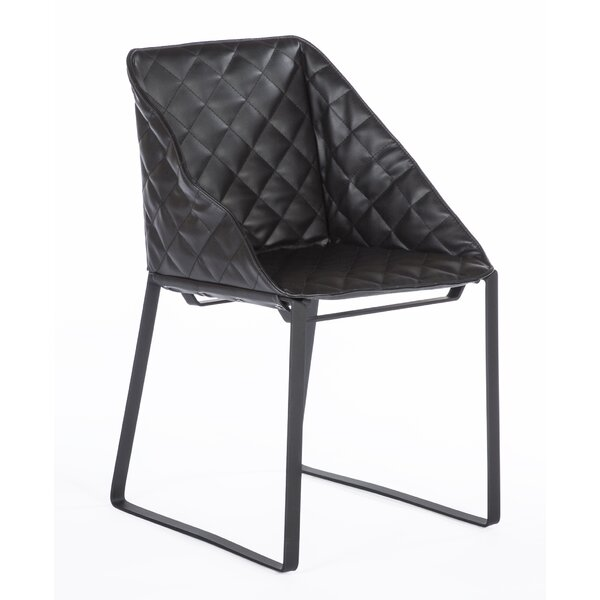The Bailey Genuine Leather Upholstered Dining Chair by dCOR design