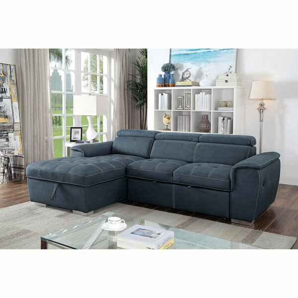 Adobe Left Hand Facing Sleeper Sectional by Latitude Run