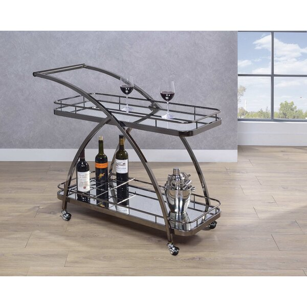 Elder 2 Tier Serving Bar Cart by Alcott Hill