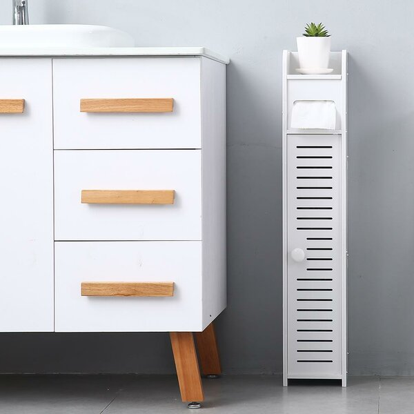 Steinway 6'' W x 32'' H x 7'' D Free-Standing Bathroom Cabinet