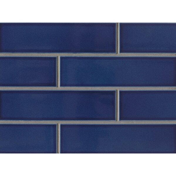 Reverie 2.5 x 9 Porcelain Subway Tile in Blue by Grayson Martin