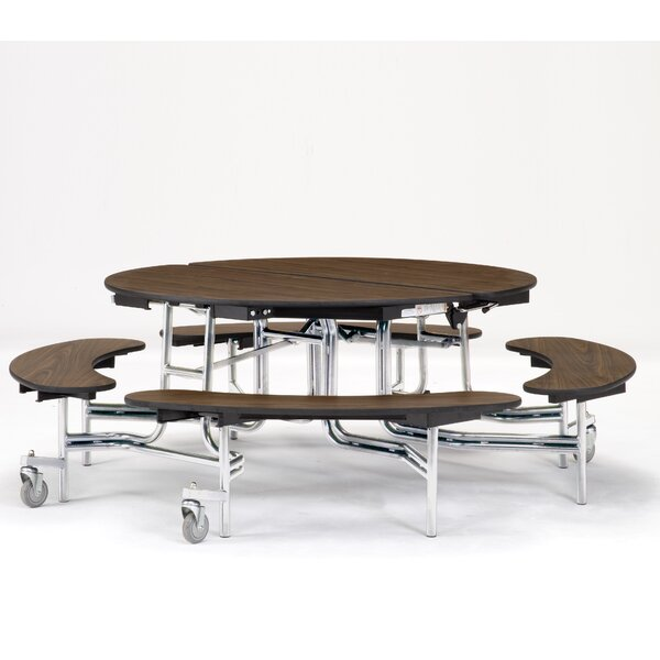 60 Circular Cafeteria Table by National Public Seating