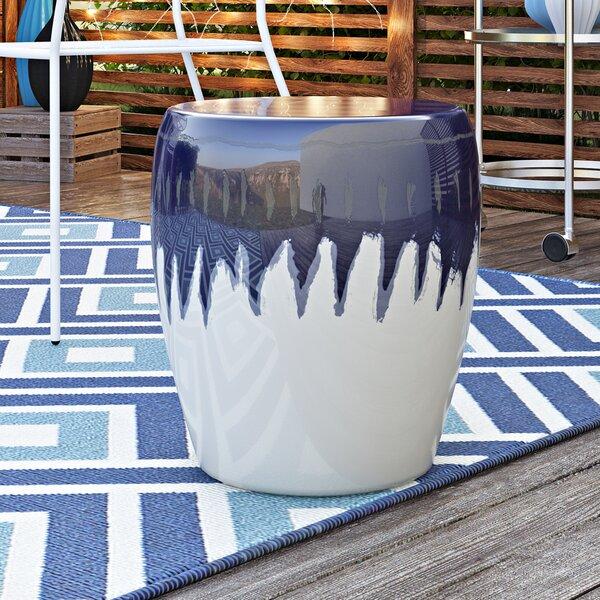 Hennis Ceramic Garden Stool by Wrought Studio