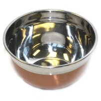 Metallic Stainless Steel Mixing Bowl by p!zazz