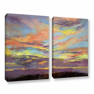 Atahualpa Sunset by Michael Creese 2 Piece Painting Print on Wrapped Canvas Set by ArtWall