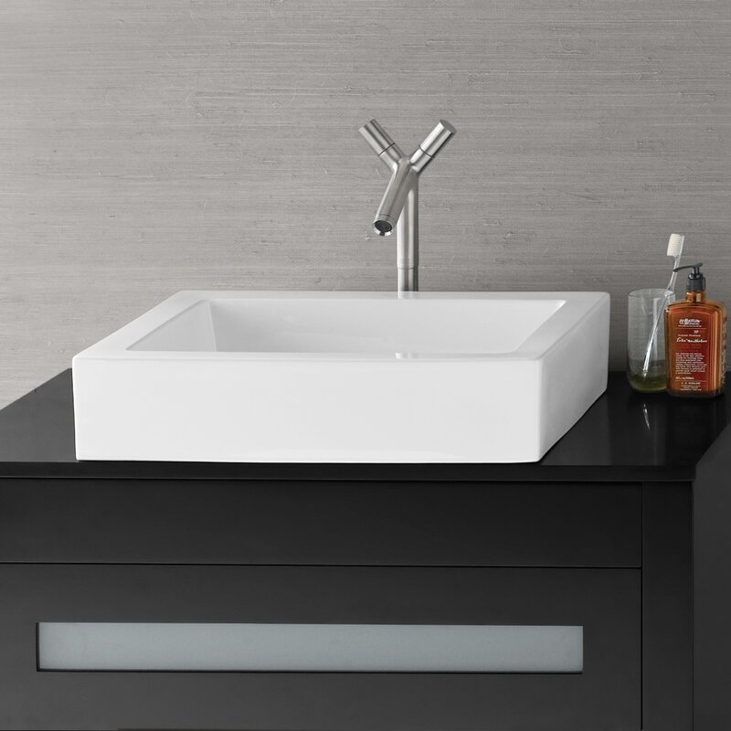 Format Ceramic Rectangular Vessel Bathroom Sink
