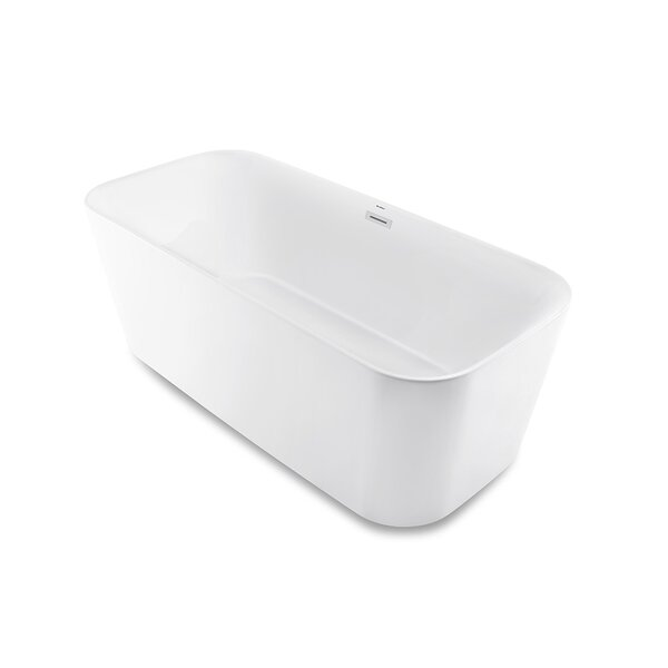 Concorde Flatbottom 67 L x 31.5 W Freestanding Soaking Bathtub by Swiss Madison