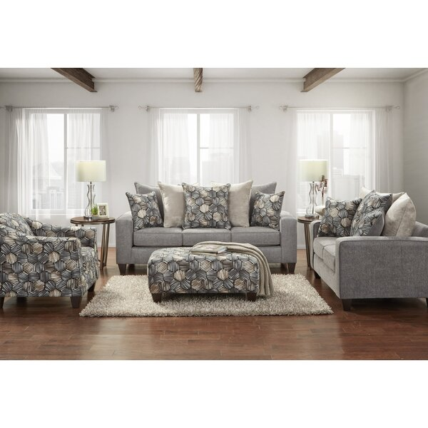 Danico Fabric 4 Piece Living Room Set by Latitude Run Latitude Run