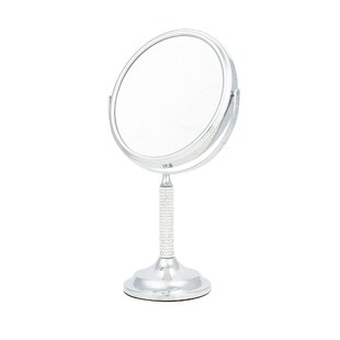 Crystal Stem 5x Magnification Makeup/Shaving Mirror ByDanielle Creations