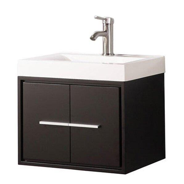 Peirce Wall Mounted Modern 24 Single Bathroom Vanity Set by Orren Ellis