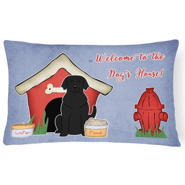 Wildlife Dog House Indoor/Outdoor Fabric Lumbar Pillow by East Urban Home