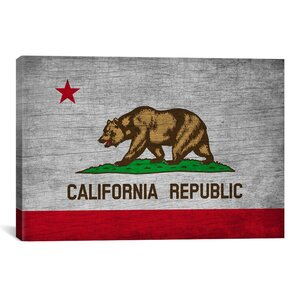California Flag, Grunge Vintage Advertisement on Canvas by iCanvas