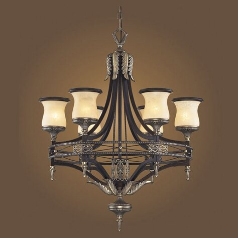 Barraclough 6-Light Shaded Wagon Wheel Chandelier By Astoria Grand