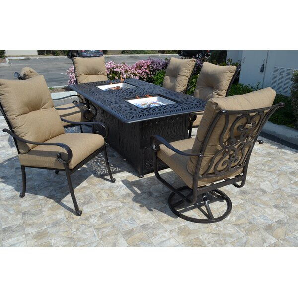 Florence 7 Piece Dining Set by K&B Patio
