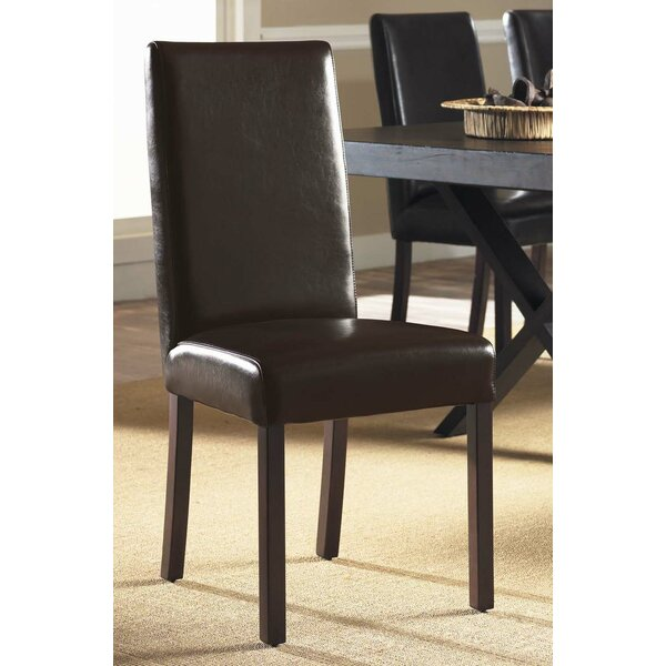 Monaco Genuine Leather Upholstered Dining Chair by Padmas Plantation