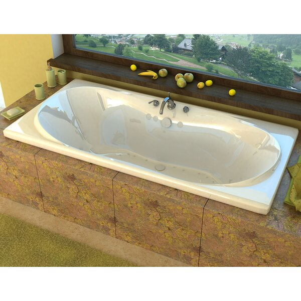 Cayman 71.37 x 41.5 Drop-In Air Bathtub by Spa Escapes