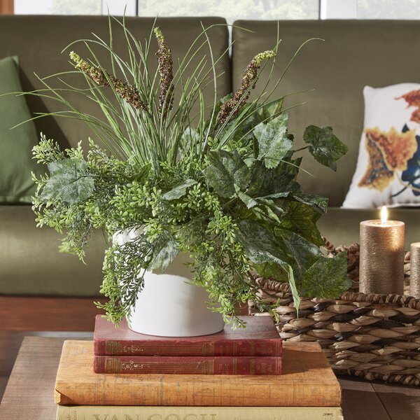 Faux Mixed Centerpiece Plant in Pot by Three Posts