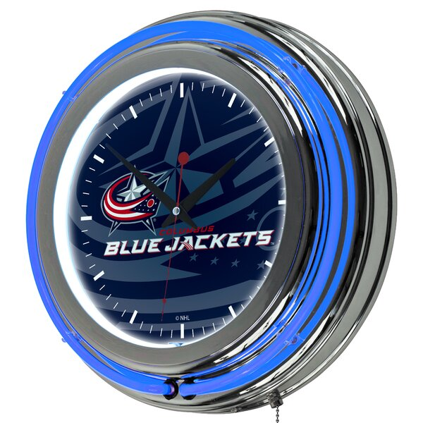 NHL Watermark Neon 11 Wall Clock by Trademark Glob