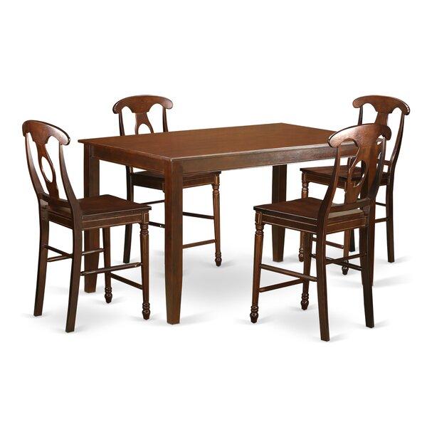 Araminta 5 Piece Counter Height Pub Table Set by Alcott Hill Alcott Hill