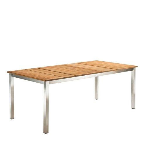 Komodo Tisch rund 180cm mit Schirmloch Teakholz