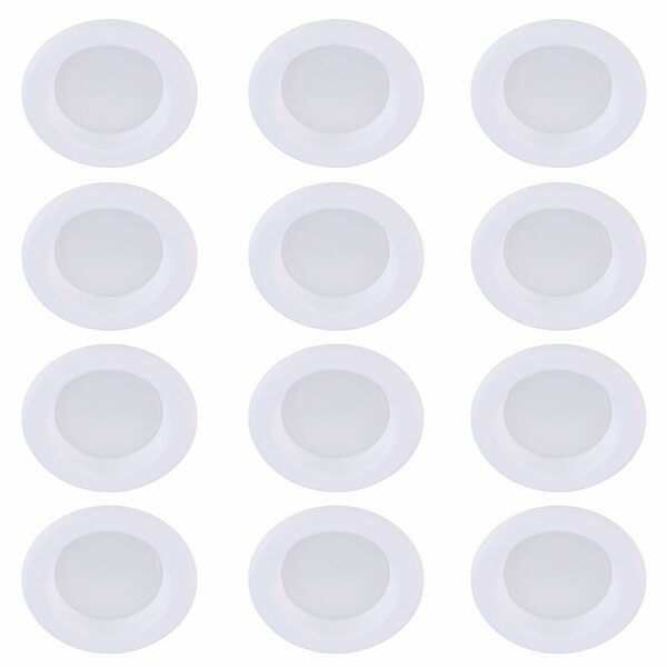 4 Reflector Recessed Trim (Set of 12) by Elegant Lighting